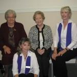 Rev. Kathy Nyitrai, Rev. Sigrid Sommer, Rev. Susan Guimond, Rev. Helen Roach - November 2012